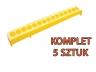 Korytko dla drobiu piskląt 50 cm, 5 szt