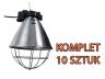 Oprawa promiennika, lampa grzewcza bez przełącznika 10 szt