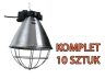 Oprawa promiennika, lampa grzewcza z przełącznikiem 10 szt