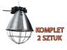 Oprawa promiennika, lampa grzewcza z przełącznikiem 2 szt