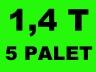 Transport towarów mebli przeprowadzki 1,4 T