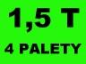 Transport towarów mebli przeprowadzki 1,5 T